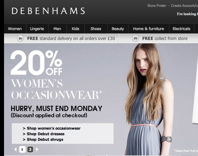Debenhams Strengthens Multichannel Approach with Kiosk Trial