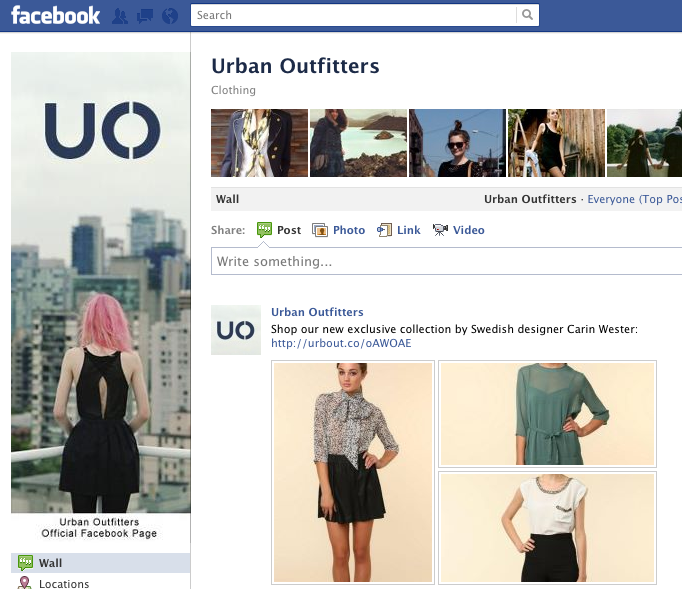 Urban Outfitters Increases Facebook Fan Base by 148%