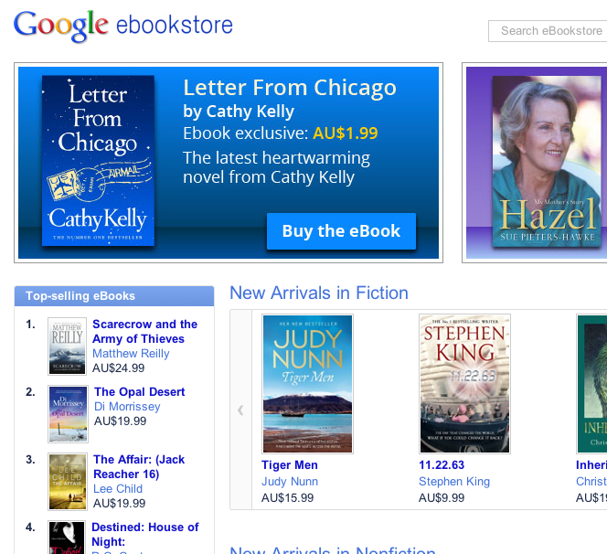 Google eBooks Goes Live in Australia
