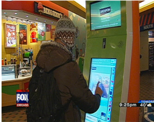 Groupon Rolls Out Self-serve Kiosks Across Chicago
