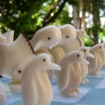 Chess pieces from the Galapagos
