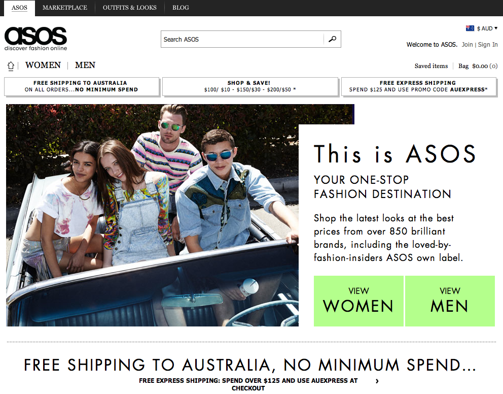 ASOS fashion and apparel pureplay