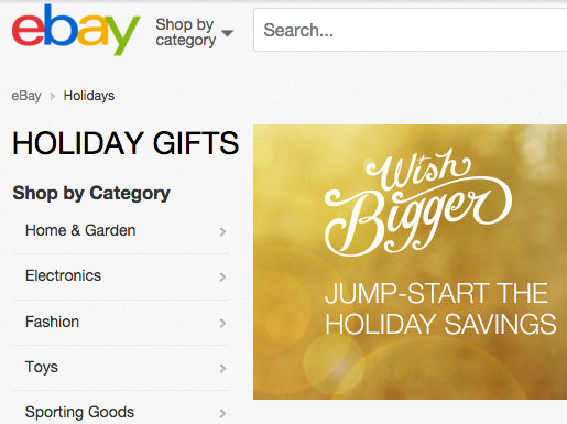 eBay Announces Consumer-Driven Holiday Campaign