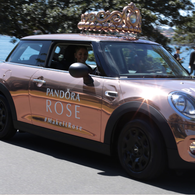 PANDORA's Latest Ad Campaign Has Some Serious Wheels