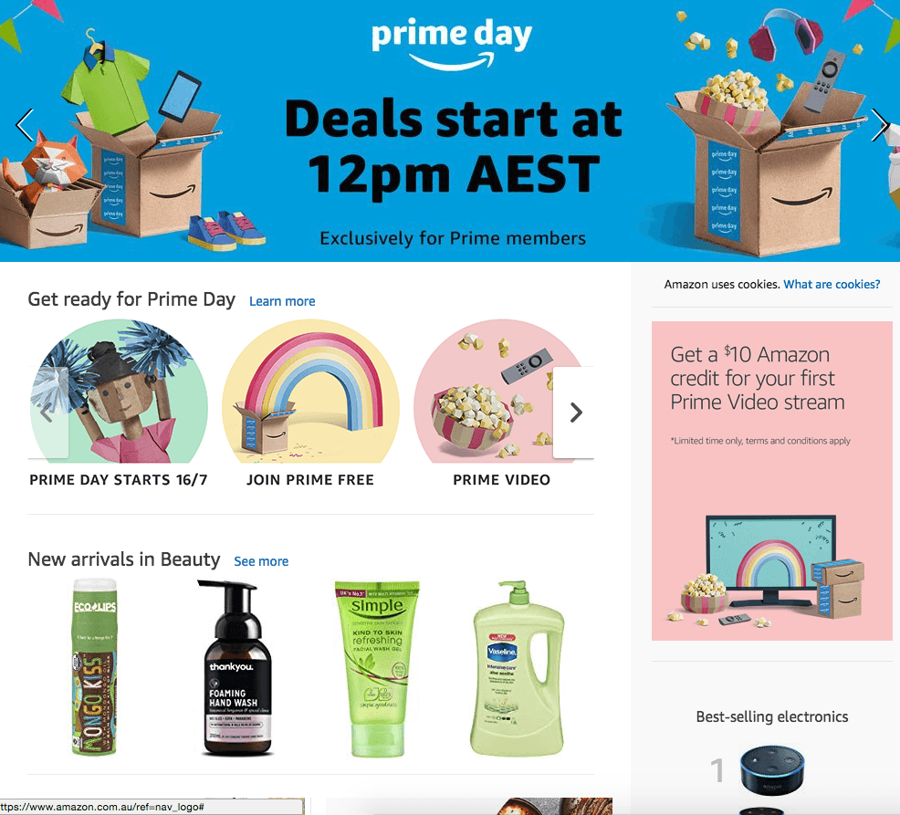 Amazon Prime Works to Lure in Australian Consumers